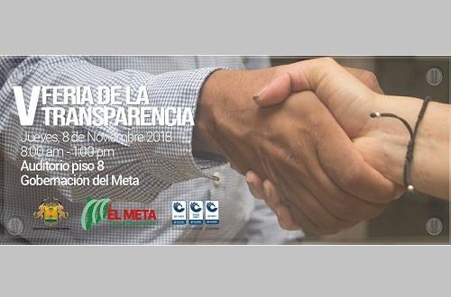 Gobernación del Meta realizará la V Feria de la Transparencia