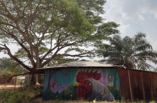 Arte mural en evento de Reconciliación con el Medio Ambiente