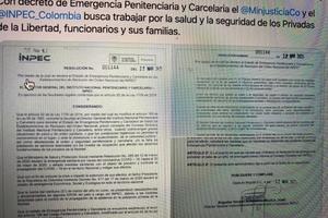 Decretan emergencia carcelaria en el país por el Coronavirus