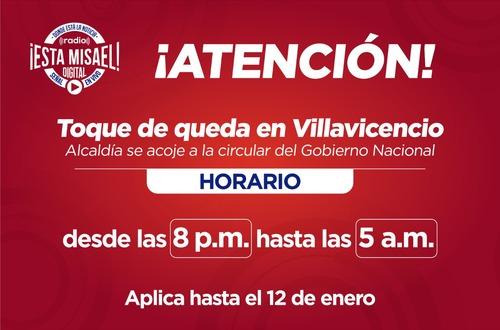Así aplican horarios del toque de queda en Villavicencio