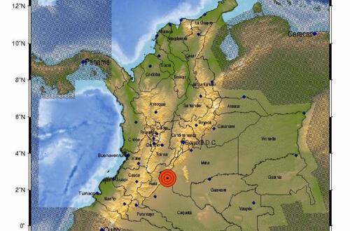 Temblor de 5.1 grados en Colombia
