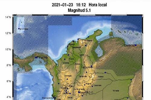 Nuevo sismo de 5.1 en Colombia