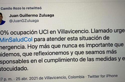 UCI Villavicencio: ocupación al 100%