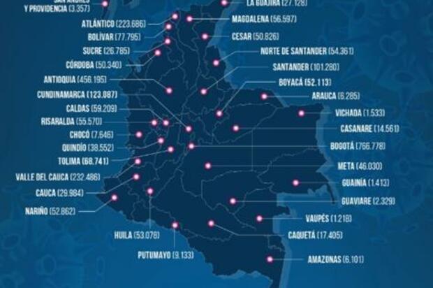 Récord de muertes por covid en Colombia: 465 en un día