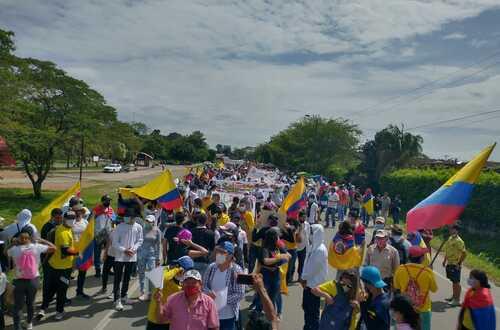 Indígenas y afros se suman al Paro Nacional en Villavicencio