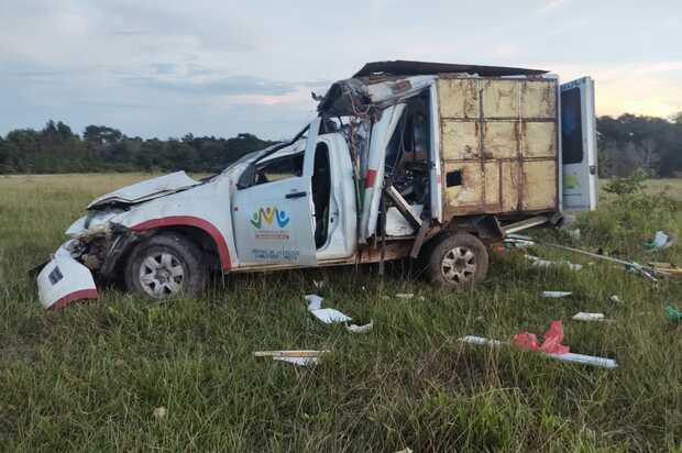 Una persona muerta y tres heridas al accidentarse ambulancia