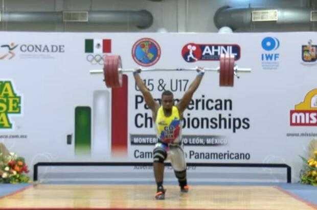 Quién es el triple medallista en Panamericano de pesas