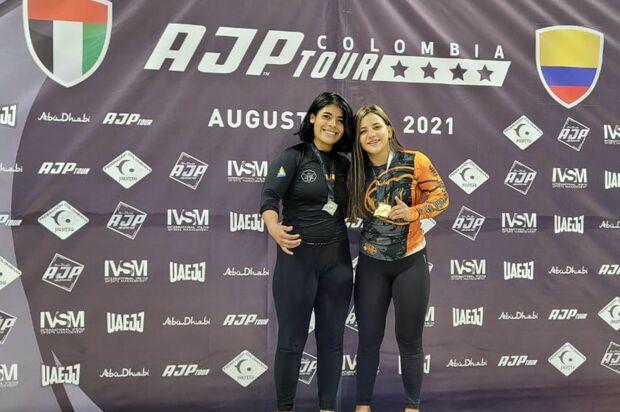 Sara Castañeda ganó oro en campeonato de Jiu Jitsu