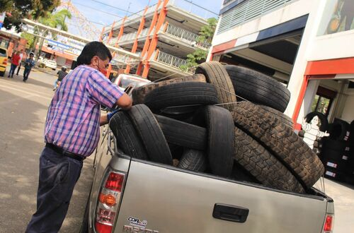 800 llantas usadas salieron de las calles de  Villavicencio