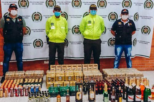 Incautan 870 botellas de licor adulteradas en Puerto Gaitán