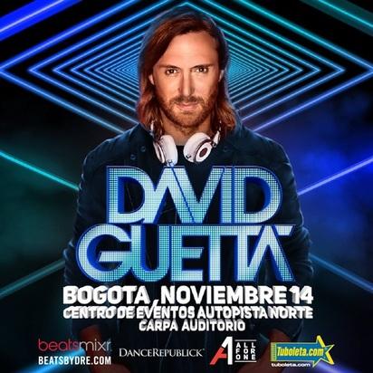 David Guetta en Bogotá el próximo 14 de Noviembre